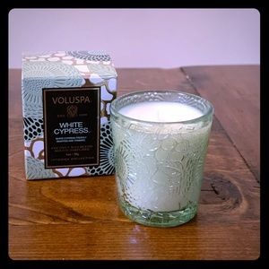 Voluspa White Cypress Coconut Wax Blend Candle